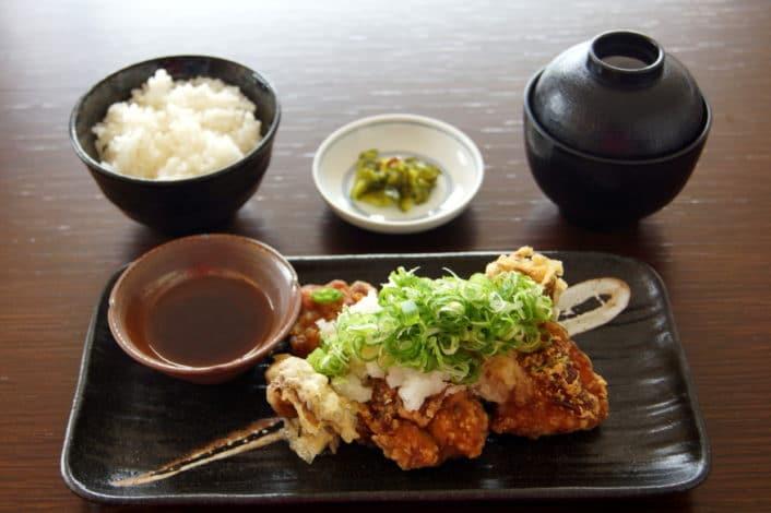 鶏と舞茸の唐揚げ